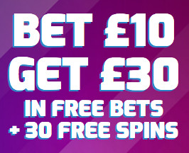 Betfred Bet 10 Get 30 in Free bets