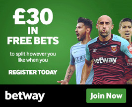 Betway Bet 10 Get 30 in Free Bets