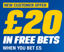 Coral's Bet 5 Get 20 Free Bets