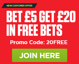 Ladbrokes Bet 5 Get 20 Offer
